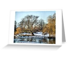 Foot Cray Meadows In Snow HDR Greeting Card