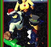 Super Hero Christmas card by Angie O'Connor