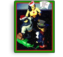 Super Hero Christmas card Canvas Print