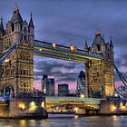Tower Bridge And The City -  Twilight - HDR by Colin J Williams Photography