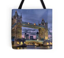 Tower Bridge And The City -  Twilight - HDR Tote Bag