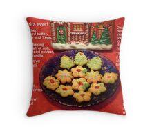 Spritz, my favorite Christmas cookie! (Best viewed enlarged) Throw Pillow