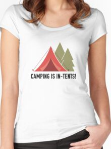 Camping Is In-Tents! Women's Fitted Scoop T-Shirt