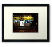 Deli Grocery, 3rd Ave. Framed Print