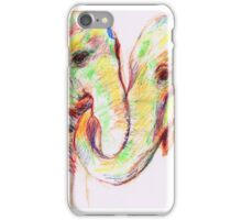 Pair of Elephants-Pastel and Pen Sketch iPhone Case/Skin