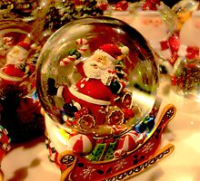Santa Snow Globe by designerbecky