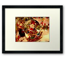 Santa Snow Globe Framed Print