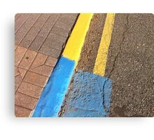 Yellow blue curb Canvas Print