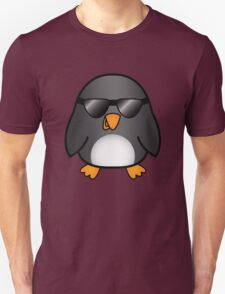 Cool Cartoon Penguin With Sunglasses T-Shirt