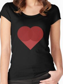 All You Need Is Art - love heart valentine fun cute romance Women's Fitted Scoop T-Shirt