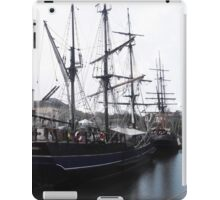 Tall ships in Charlestown Harbour, Cornwall, England. iPad Case/Skin