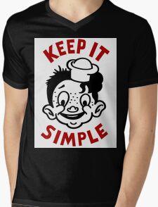 KEEP IT SIMPLE Mens V-Neck T-Shirt