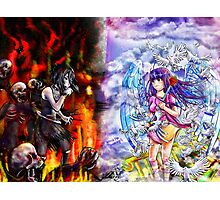 Heaven vs Hell Photographic Print