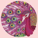 Pink peacock by Iuliia Dumnova