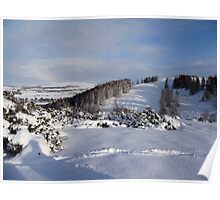 Picture Postcard Christmas Message Poster