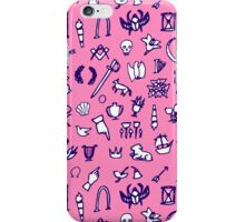 Cemetery Symbology (Pink) iPhone Case/Skin