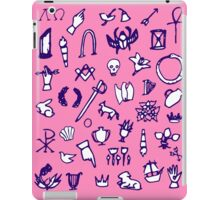 Cemetery Symbology (Pink) iPad Case/Skin