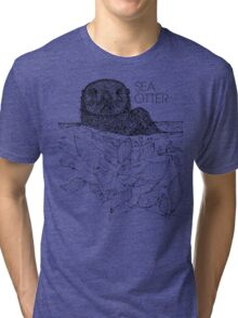 Sea Otter Sketch Tri-blend T-Shirt