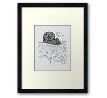 Sea Otter Sketch Framed Print