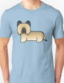Fawn Cartoon Skye Terrier Dog T-Shirt