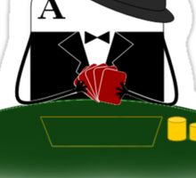Card Playing Poker Sticker