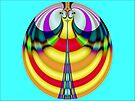 Eiffel Tower Smiley Sphere  (FSK3719) by barrowda