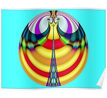 Eiffel Tower Smiley Sphere  (FSK3719) Poster