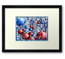 """""""Christmas Tree Ornaments Forest"""" Framed Print"""