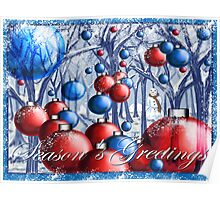 """""""Christmas Tree Ornaments Forest"""" Poster"""