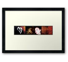 the secret lies in the living; and the gift in the breaking again Framed Print