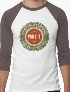 Life Begins At Conception Men's Baseball ¾ T-Shirt