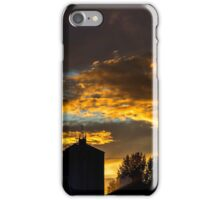 Sunset over the factory iPhone Case/Skin