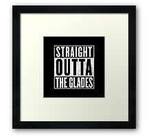 Straight Outta The Glades Framed Print
