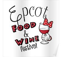 Epcot Food and Wine Festival Minnie Mouse Poster