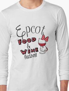 Epcot Food and Wine Festival Minnie Mouse Long Sleeve T-Shirt