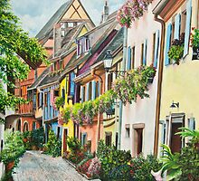 Eguisheim In Bloom by Charlotte  Blanchard