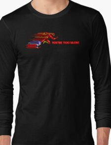 Flash & Sonic - You're Too Slow! Long Sleeve T-Shirt