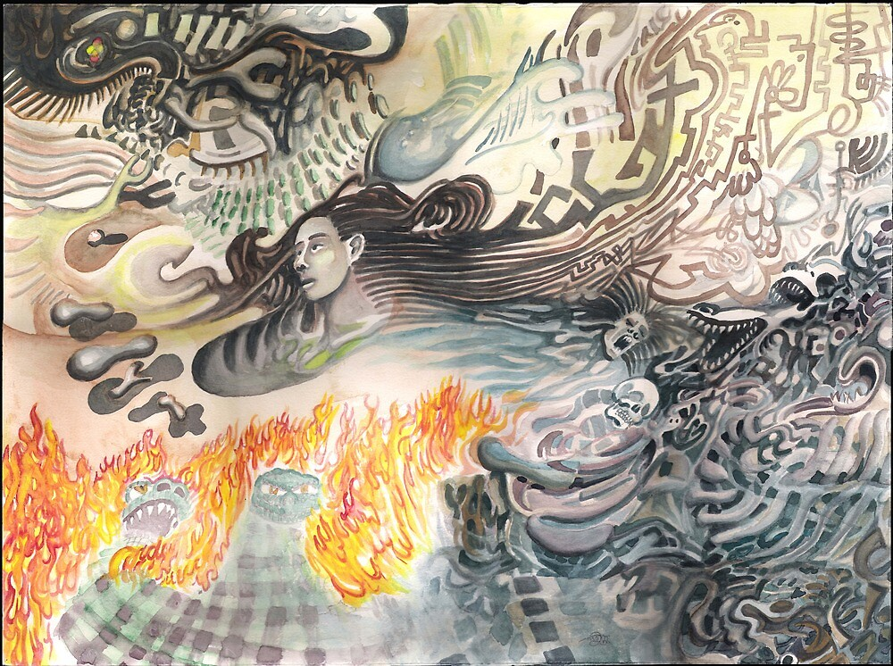 Thoughts Simmering in Flame by Davol White
