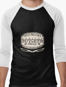 Foggy Nelson's Butcher Shop - Best Ham In Hell's Kitchen  Men's Baseball ¾ T-Shirt