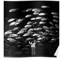Paris - Maya and the silver fishes. Poster