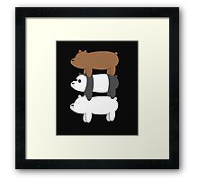 We Bare Bears! Framed Print
