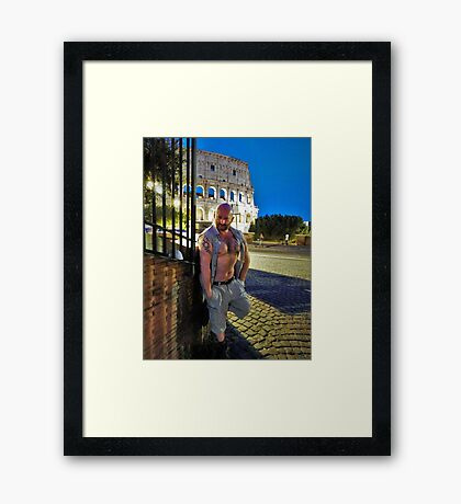 Troy - Do As They Do in Rome Framed Print