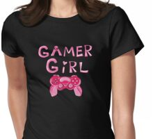 Gamer Girl Girly Womens Fitted T-Shirt
