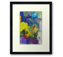 Sky over a bonfire Framed Print