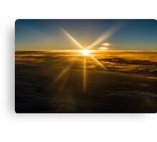 Sunset Above the Clouds Canvas Print