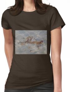 Floating Design Womens Fitted T-Shirt