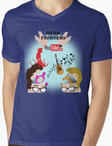 Nerd Fighters P4A! Mens V-Neck T-Shirt