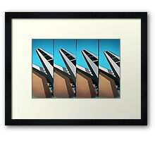 Shapes of faith in lomo colors Framed Print