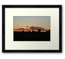 Coober Pedy Sunset Framed Print