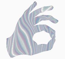 Holographic Ok Emoji Hand by cdanoff
